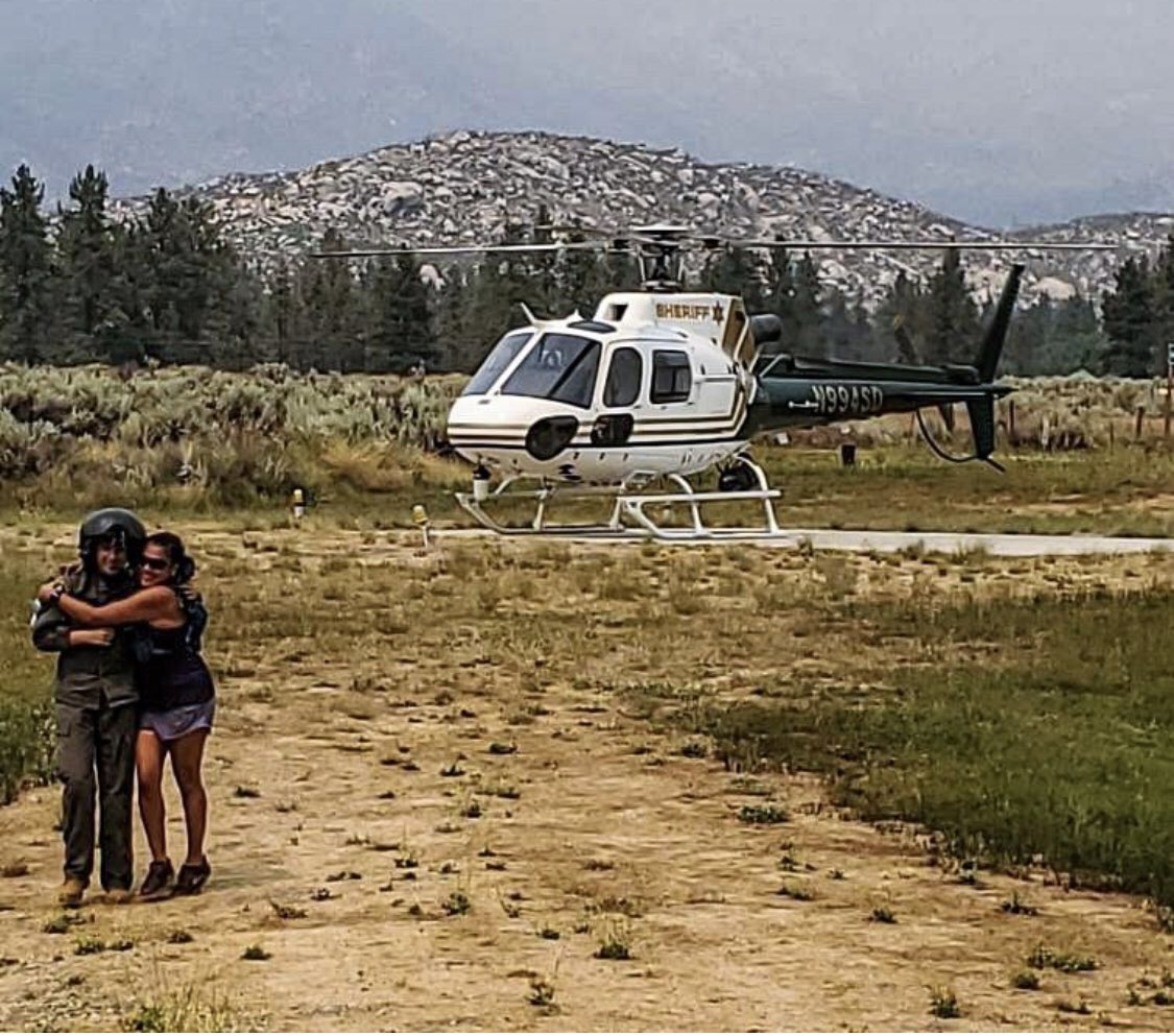 The @RSO aviation team rescued a hiker and well she was very thankful! #aviation