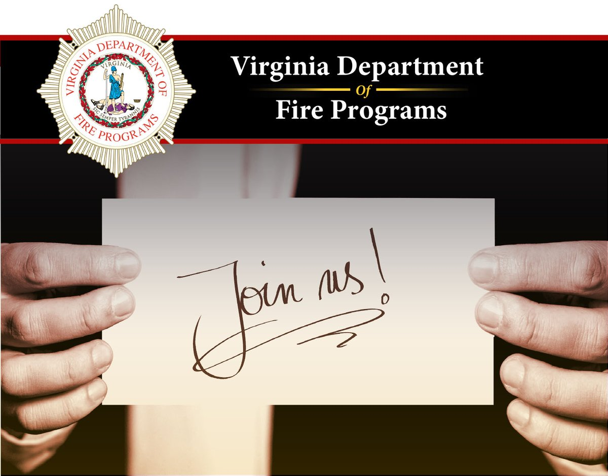 The Virginia Department of Fire Programs is hiring for a new Financial Services Director. This position is open to STATE EMPLOYEES ONLY until October 2, 2020. Click the link to learn more and apply.