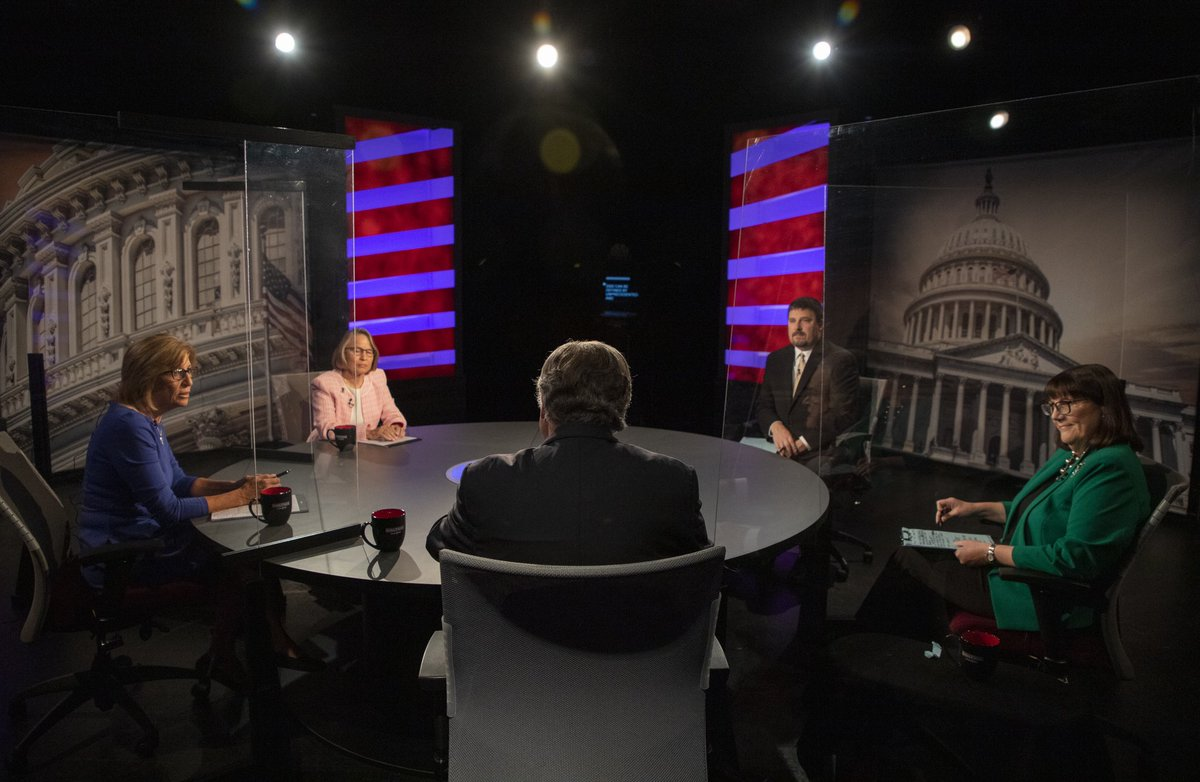 Steaming online: our @IowaPBS #ia02 Debate from last night with @RitaHartIA @millermeeks