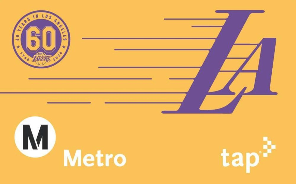 Ready for the #LakeShow! Metro will be distributing commemorative Lakers TAP cards at select bus stops and rail stations in the next few days.