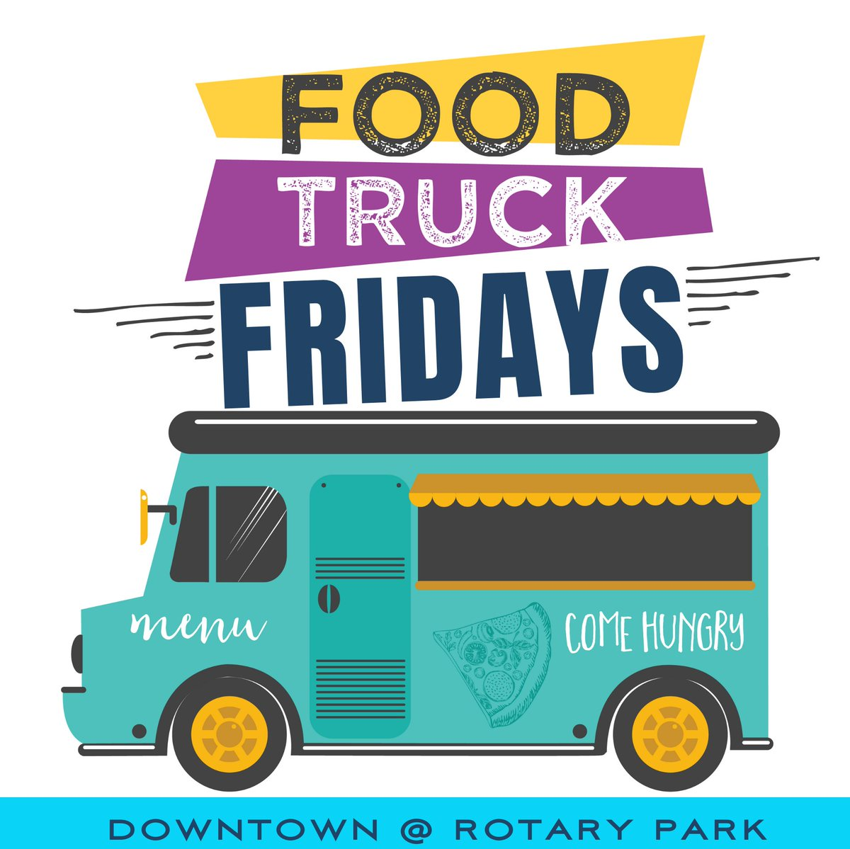 It's #FoodTruckFriday! We'll see you at Rotary Park from 11 a.m. to 1 p.m. today!