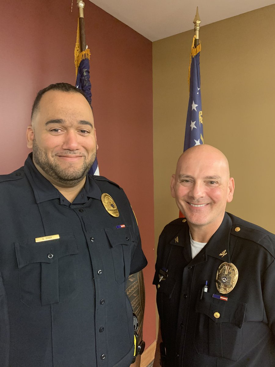 Congratulations to our newest sergeant Aaron Barry who has been with the department over 14 years. We wish him good luck in his new position!