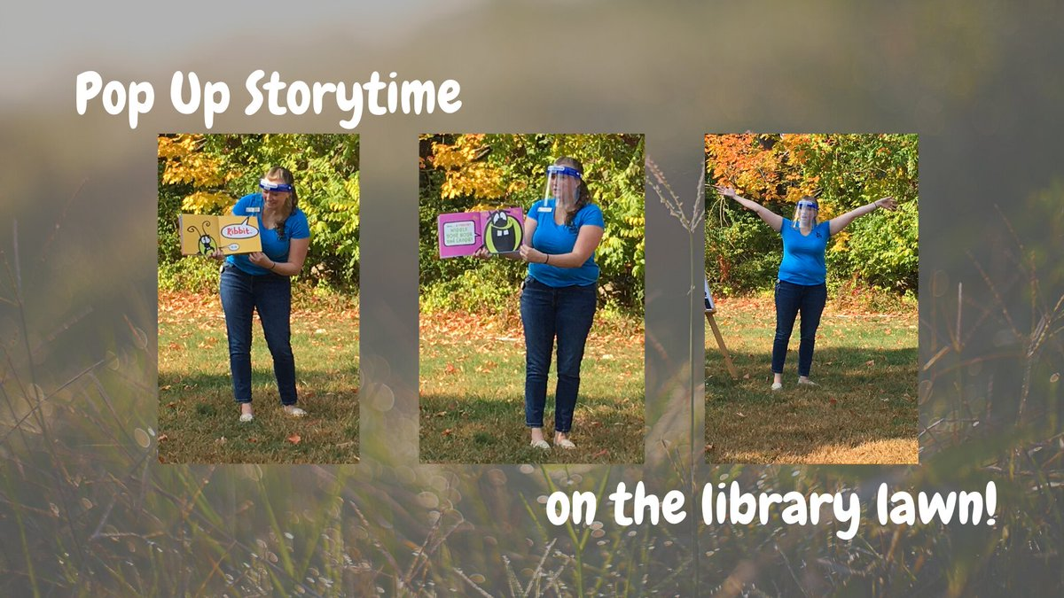 This morning was beautiful for storytime on the library lawn! Join us October 2nd, weather permitting, for another socially distanced storytime on the lawn. Registration is required and opens September 30th.