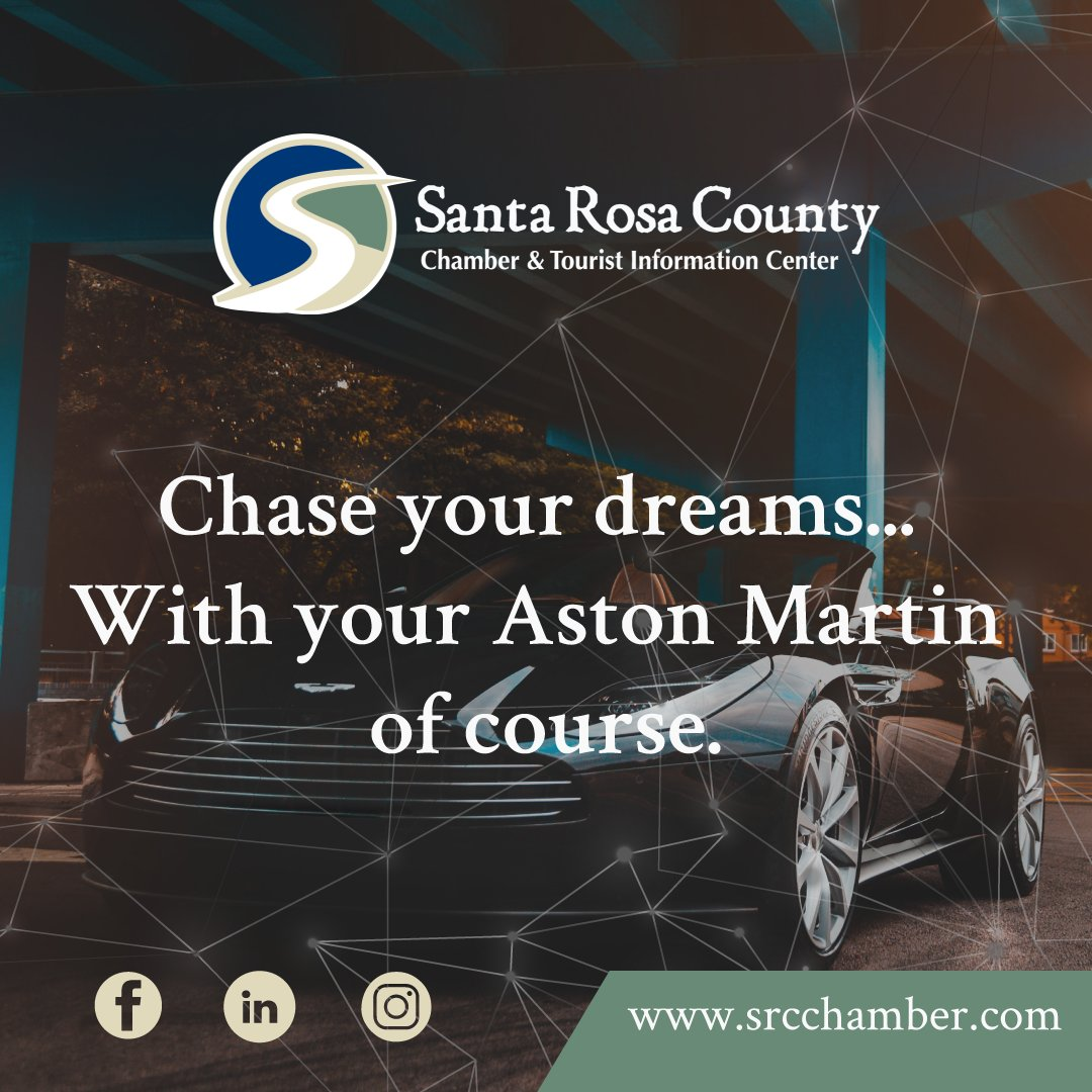Chase your dreams... With your Aston Martin of course.