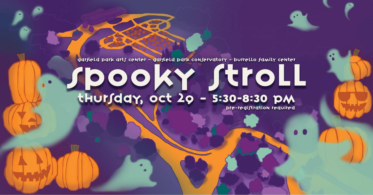 Take a not-so-spooky stroll at Garfield Park with your little monsters this Halloween season with a spooky storyteller, a pumpkin patch, and some other goodies! Registration for this special event opens TODAY! Register here: