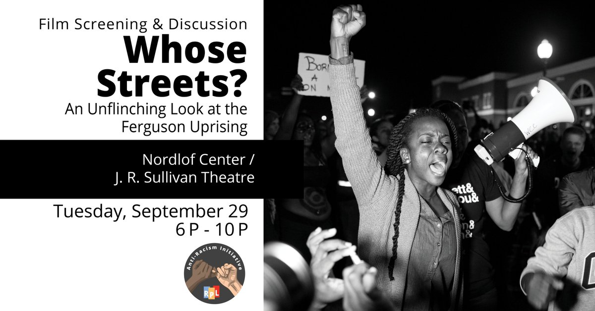 Join us for the final night of our Racial Justice Documentary Film Screening & Discussion series. We will watch Whose Streets?: An Unflinching Look at Ferguson Uprising, followed by a panel discussion. Click here to register