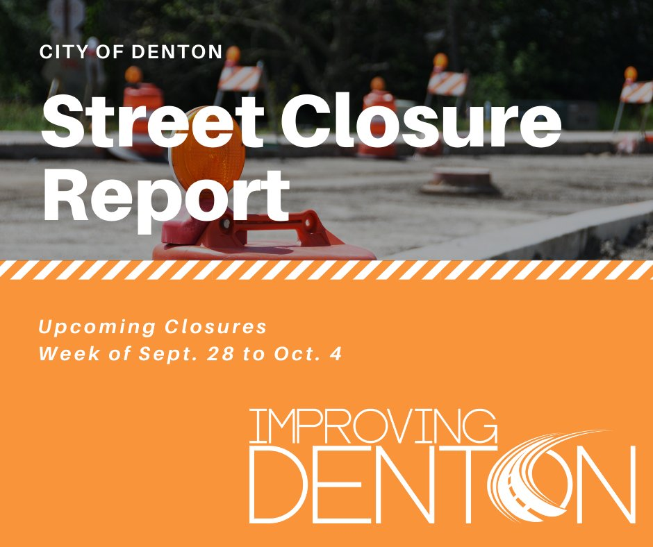 Did you know we put out a weekly street construction report every Friday? 🤔 Get the 411 and check out the newest one here: .   To see the report every week, visit  and click on the