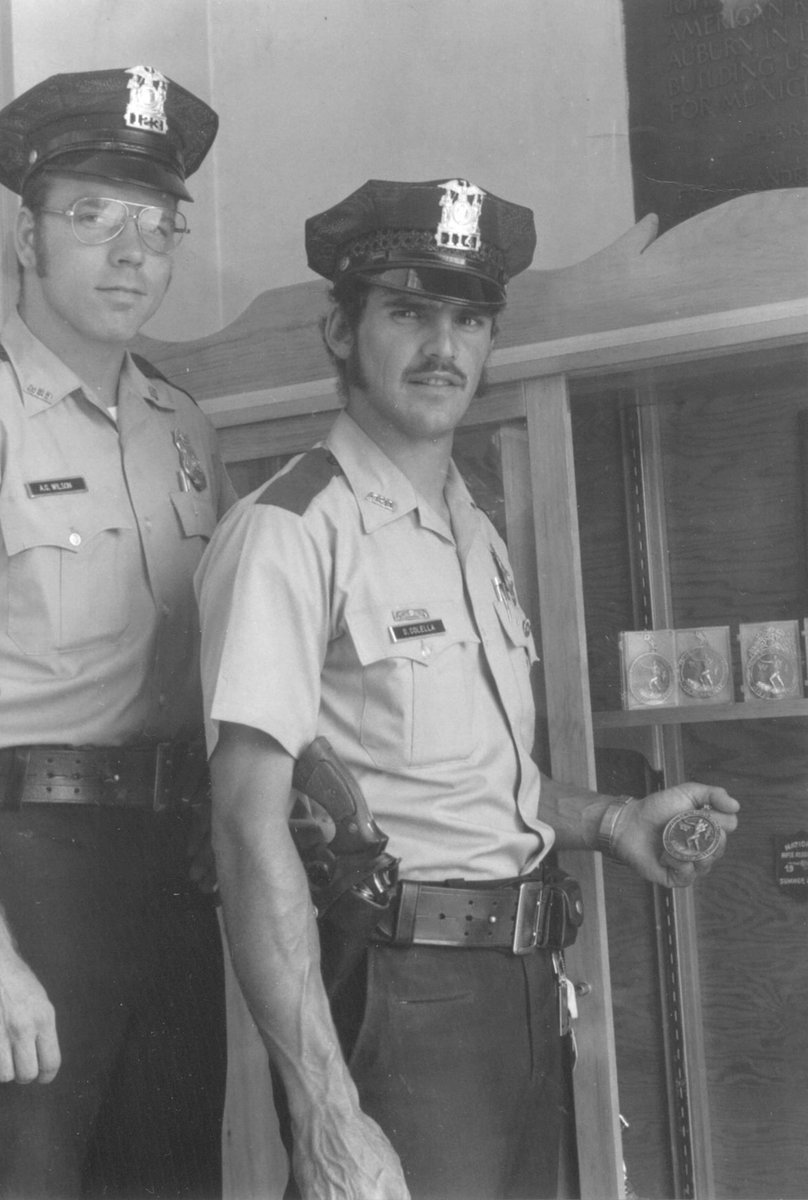 Our Friday Flashback features Al Wilson (left) and Dan Colella. Wilson started his career with APD on July 23rd, 1973 and retired with almost 23 years of service in April of 1996. Colella began his career on December 15, 1969 and retired with over 21 years in May of 1991.