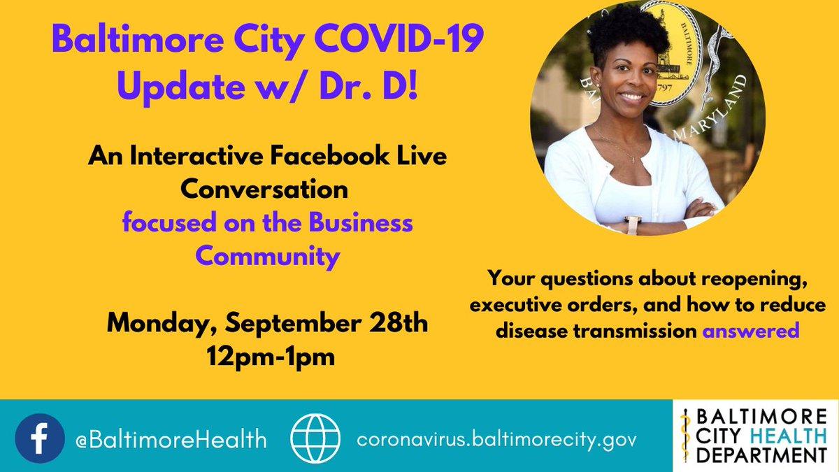This Monday from 12-1! #covid19 #coronavirusbalt