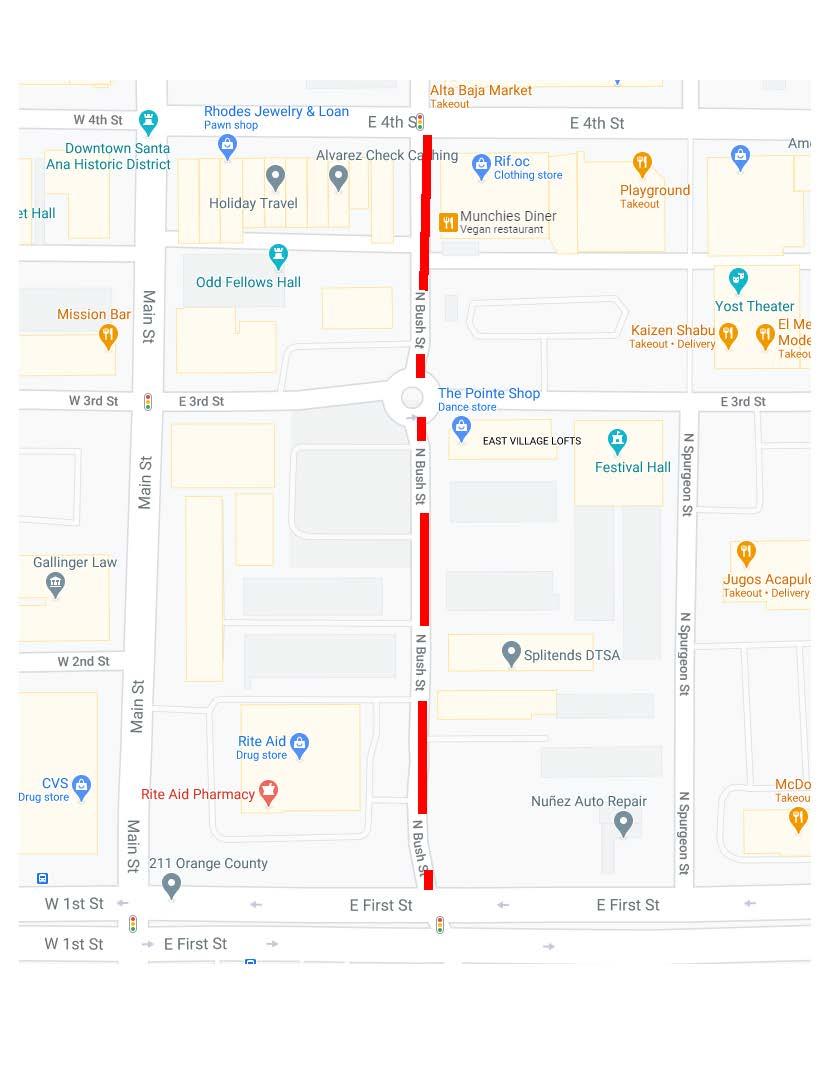 Northbound Closure on Bush Street Begins Monday, 9/28/20 #SantaAna #traffic #community #neighborhood