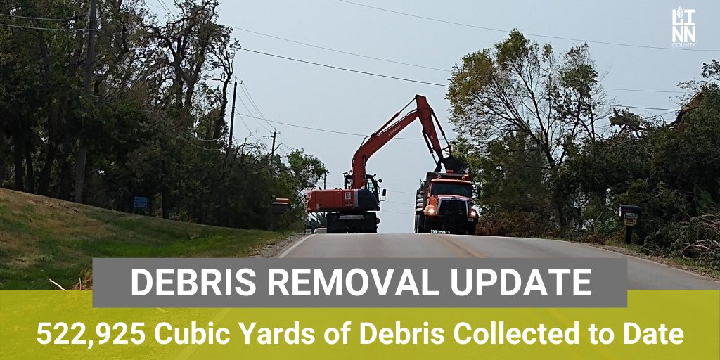 Linn County Secondary Roads and Ceres crews continue to pick-up organic debris from unincorporated Linn County. Crews are wrapping up the first pass and plan to complete three total passes. More storm response info: