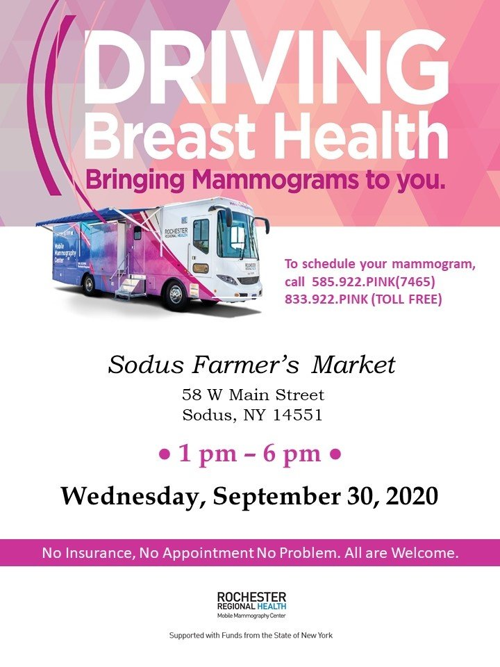 It doesn't get any easier than this!  No insurance? No appointment? NO PROBLEM!! Early detection of breast cancer through regular mammograms is a SIGNIFICANT boost to beating breast cancer!!