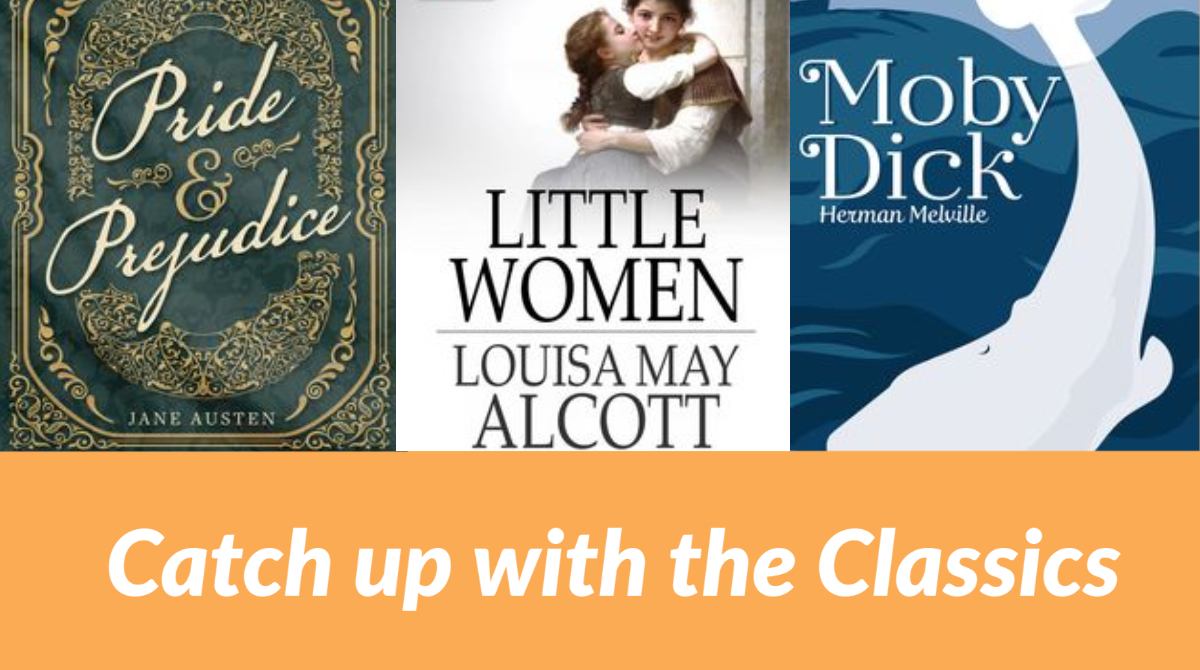 Catch up with the #classics! Whether you are in school or you're ready to tackle what you might have missed while you were there, find a huge selection in our eLibrary, always available. Listen:  Or read: