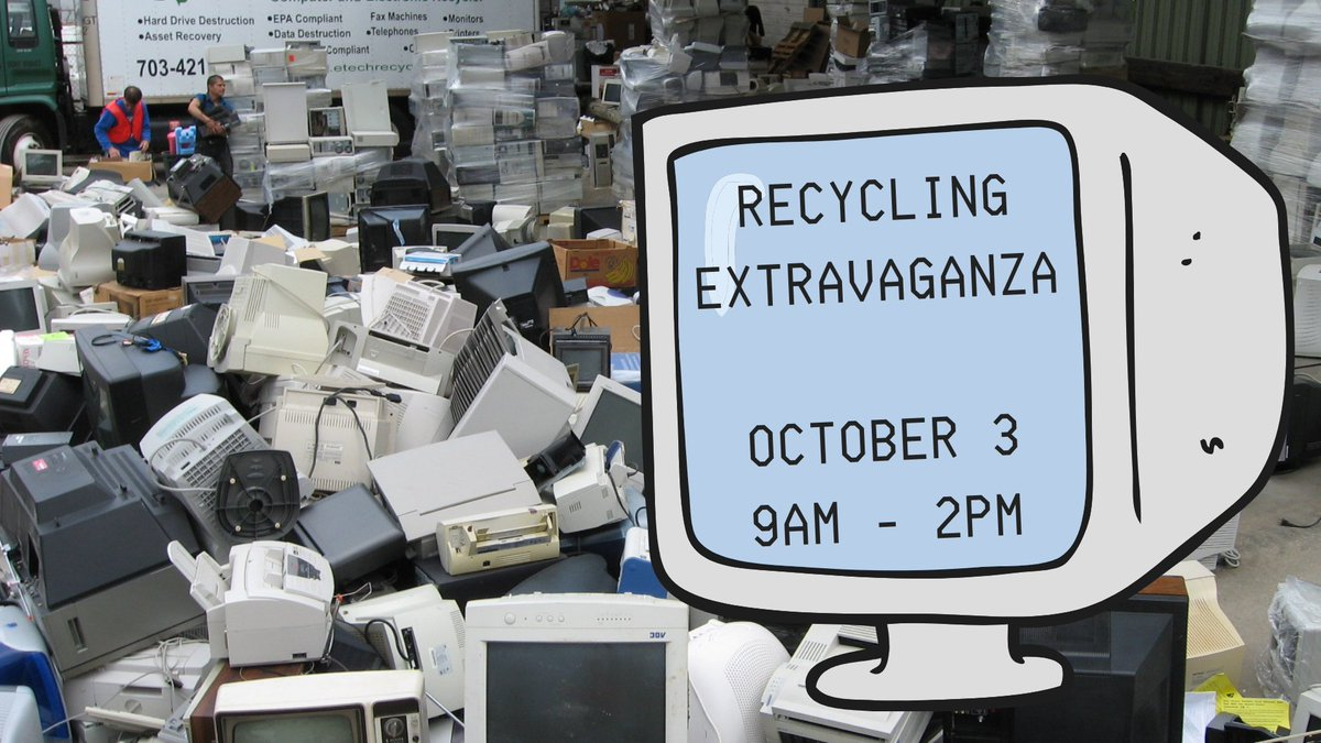 The Recycling Extravaganza returns next month! City of Falls Church residents can drop off hard-to-recycle items at the Recycling Center (217 Gordon Rd.) on Saturday, October 3 from 9am-2pm. Proof of residency required at this year's event.