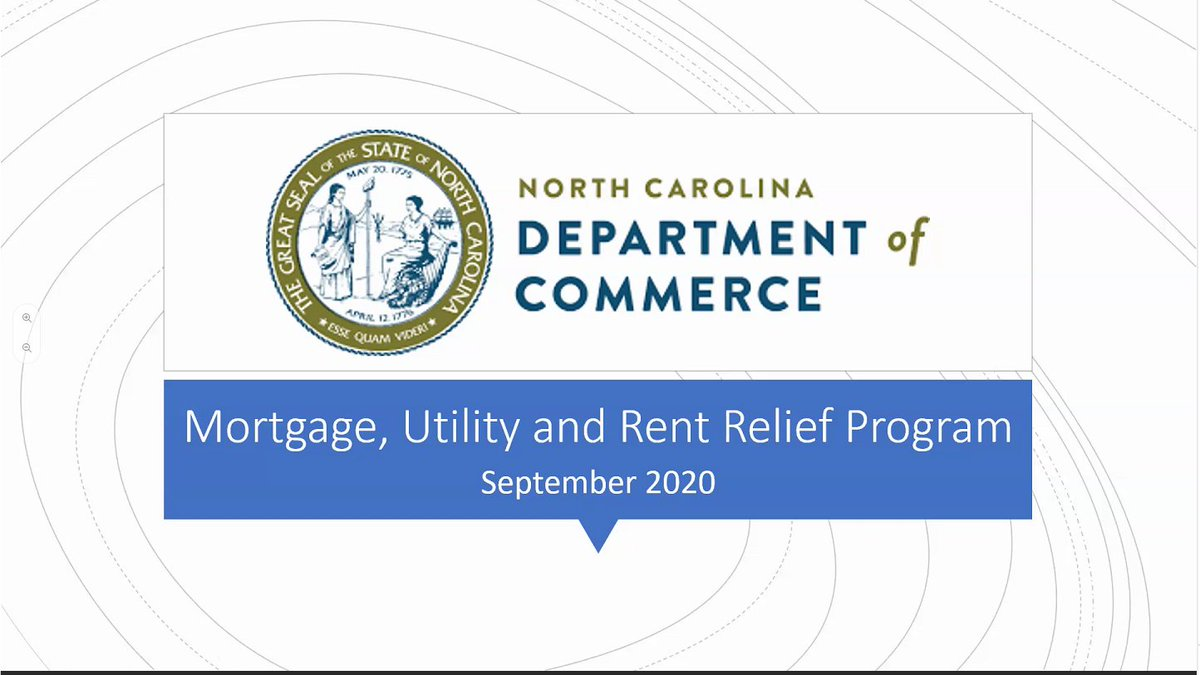 Yesterday, 146 businesses participated in #NCCommerce's first webinar for the $40 million Mortgage, Utility and Rent Relief Program announced by @NC_Governor this week. Find out if your business qualifies for MURR and register for an upcoming webinar.