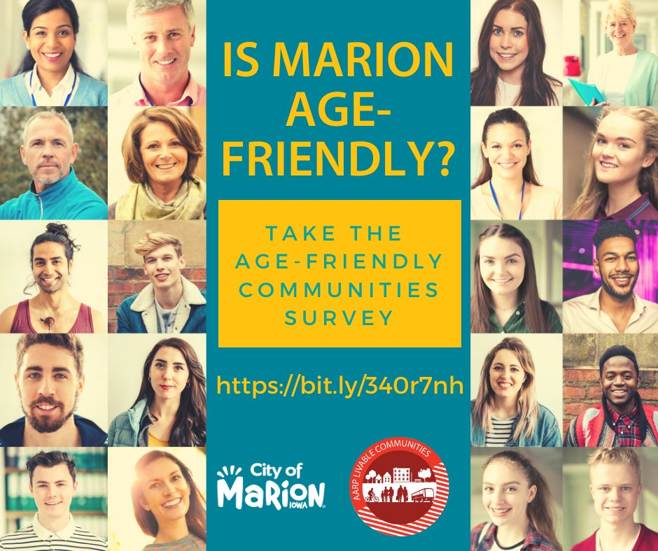 Do you think Marion is age-friendly? Complete this online survey at , between now and the end of November. Learn more: