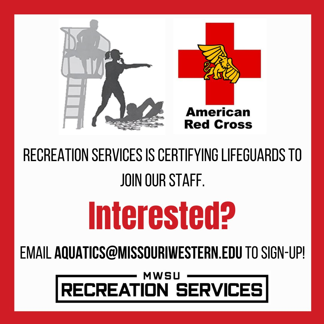 We want YOU to be a lifeguard at Thomas Eagleton Indoor Pool!  This is a part-time position, and you do not need to be a MWSU student to apply!  Training is provided!