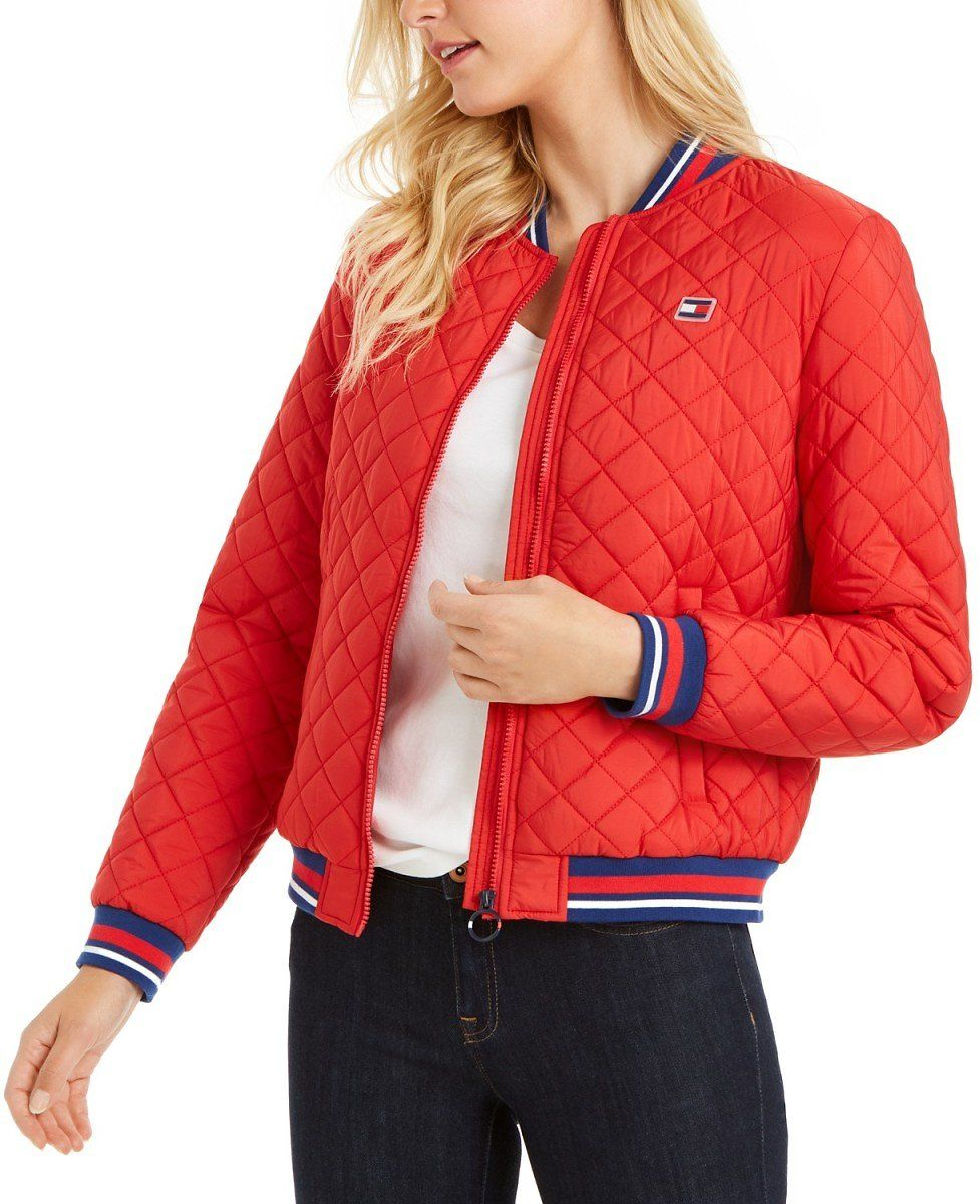 Tommy Hilfiger Quilted Bomber Jacket  $46 in 4 Colors + Ships Free!   (Reg $110)