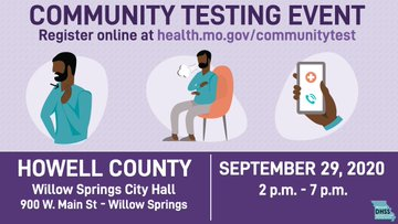 The Missouri Department of Health and Senior Services (@HealthyLivingMo) continues to partner with @Missouri_NG and local health departments to offer FREE COVID-19 testing events.  Sign up for a FREE test: