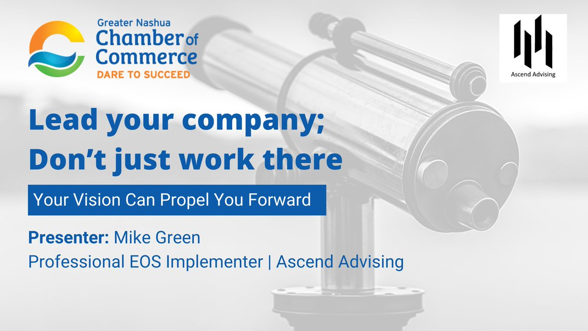 Could you use some tools to help you get the most out of your business? For some practical, real world tips, join us for an information-filled webinar with Ascend Advising's Mike Green. Find out all the details and registration information here: