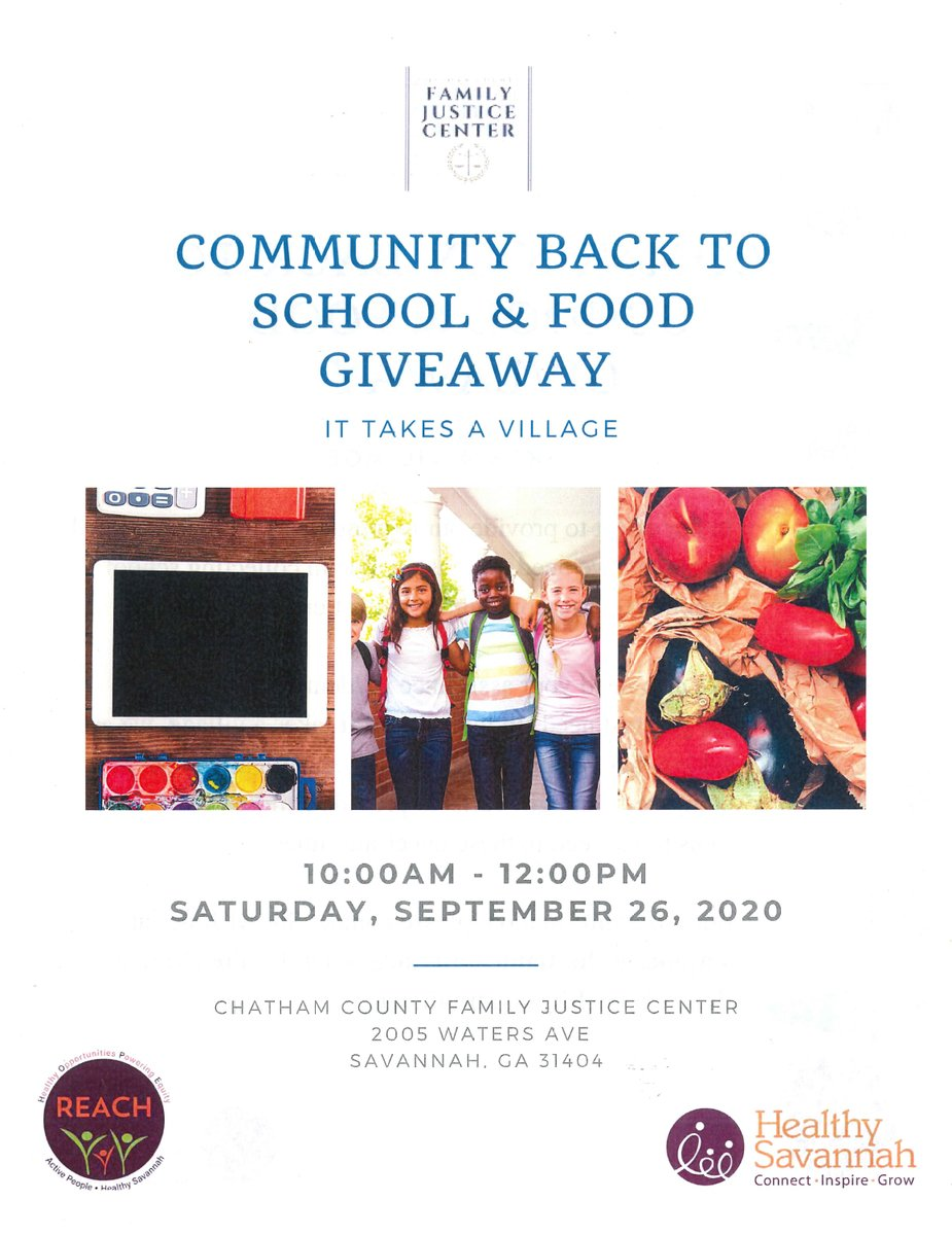 Complete the #2020Census at the Community Back to School & Food Giveaway with Chatham County Family Justice Center and @OfficialHLTYSAV. SAT SEP 26 | 10:00 AM – 12:00 PM 2005 Waters Ave, Savannah, GA 31404 #EveryOneCounts #CensusRapidResponseNLC