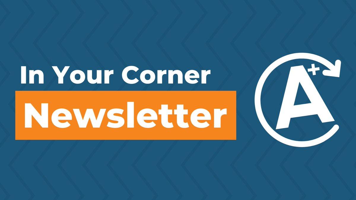 ICYMI this week's #InYourCorner Newsletter: ttps://conta.cc/3cxVUdy