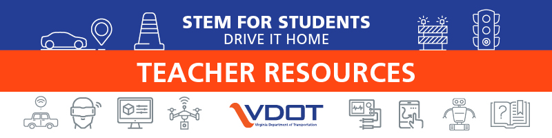 Teachers & parents: #VDOT has new #STEM lessons available for students grades 4-12!  Learn about design communication (technical drawing), sensor technology, & robotic programming (reinforcing logical thinking & the coordinate system).  ➡️
