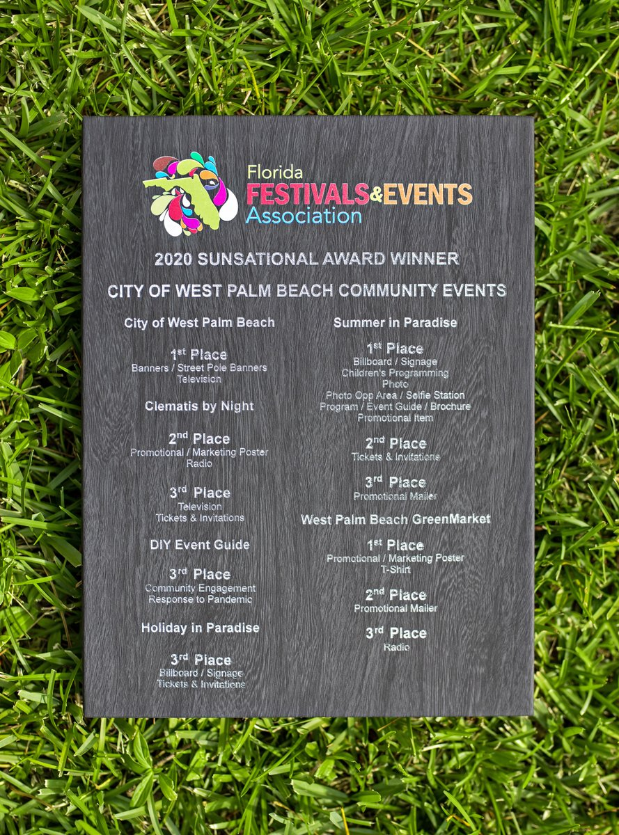The City's Community Events Division earned 21 SUNsational awards from the Florida Festivals & Events Association (FFEA) this year! What's your favorite City event? For more information, please visit: