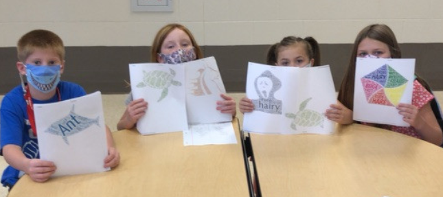 Word art and character traits in Mrs. Joodi's 3rd grade classroom today!