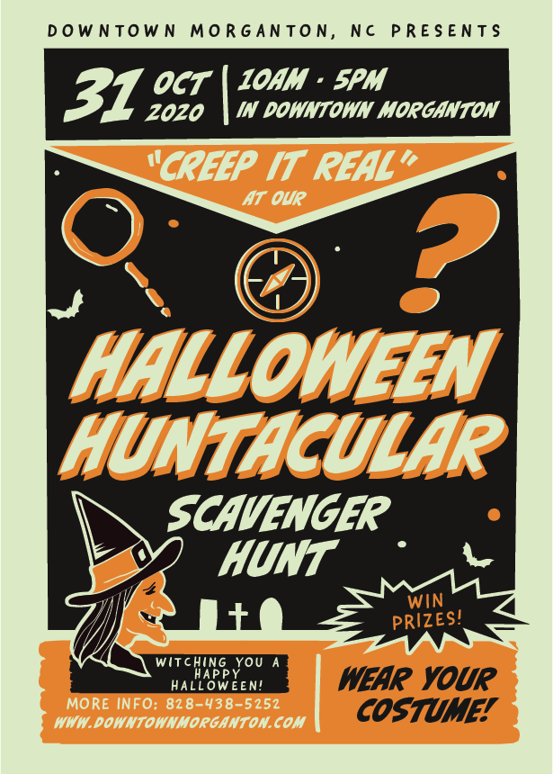We've got an overload of fun Halloween activities to enjoy this year! From a Halloween scavenger hunt, to ghost tours, to a drive-thru trick-or-treat event, there are plenty of ways to enjoy the season while staying safe from COVID-19. Check out more info on the flyers below!
