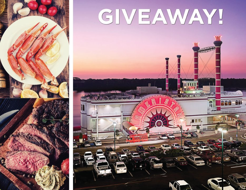 We have an AMAZING GIVEAWAY for our Facebook friends thanks to Ameristar Casino Hotel Vicksburg! Enter to win an Overnight Stay & Dinner at Ameristar (a $350 value)! Visit our Facebook page to enter -