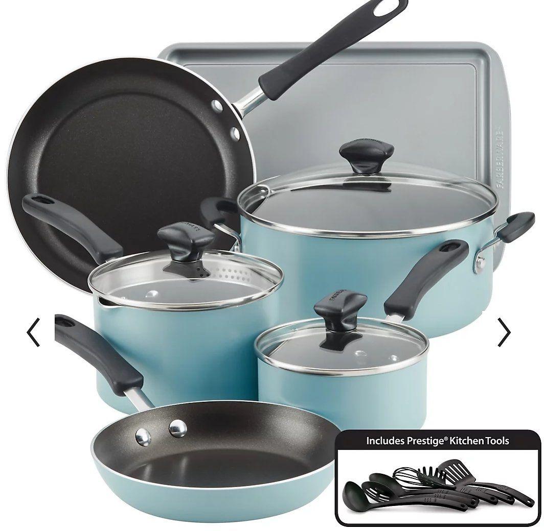 Only $39 (Reg $120)  15-Pc Farberware Cookware Set: