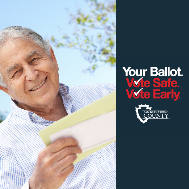 Keep your eyes peeled for your voter information guides! ☝️📝☑️ Voter information guides will be mailed late September to all registered voters in San Bernardino County.  For more information, please visit   #2020Election #VoteSBCounty #VoteSafeVoteEarly