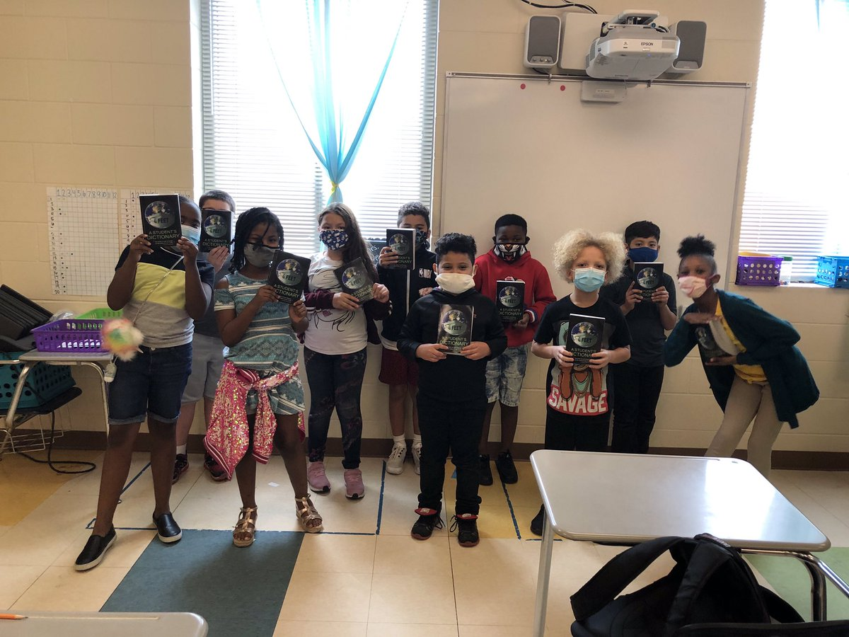 Our third graders at River Oaks Elementary really love their new dictionaries! Thank you, Rotary  Club of Gulfport-Orange Grove for donating 100 dictionaries to our students at ROE this week! We truly appreciate your partnership! #HCSDStrong