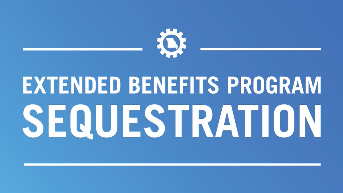 Per USDOL, benefits paid under the Extended Benefits (EB) program are being reduced for weeks beginning June 28, 2020 or later by 2.95% for each week. These required budget reductions are generally known as sequestration. Notices are being sent to individuals effected.