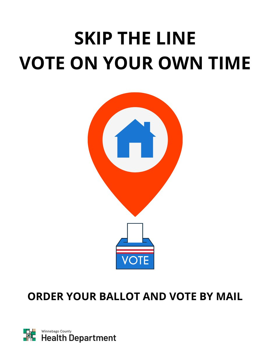 SKIP THE WAIT: Avoid the lines and reduce your risk of exposure to COVID-19 by ordering your ballot by mail. Request your ballot by Thursday October 29th.
