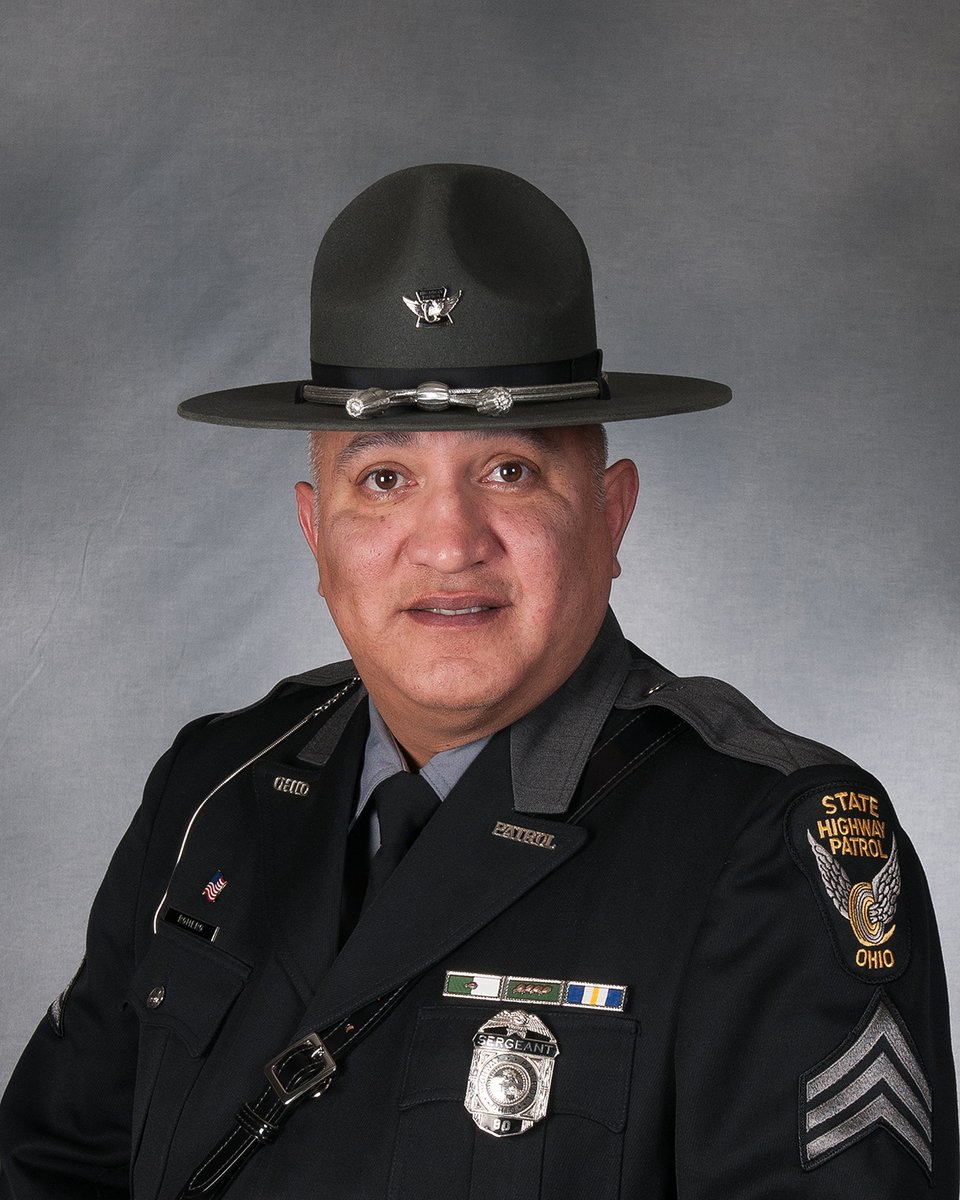Please help us congratulate Sergeant Alejo Romero, Swanton Post, Findlay District, who retired today after 27 years of service to the Ohio State Highway Patrol and the citizens of Ohio.