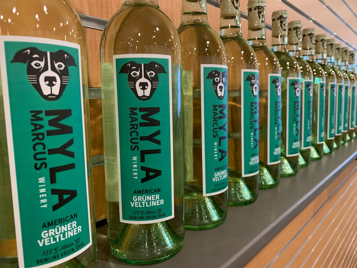 Myla Marcus Winery has 2 new wines! Grüner Veltliner is a dry white wine with notes of honeydew melon and lime. Niagara is a limited release sweet golden grape wine.  Stop out to the tasting room (133 S Main St) from 4-8p on Wednesday & Friday or 12-8p on Saturday for a glass 🍷