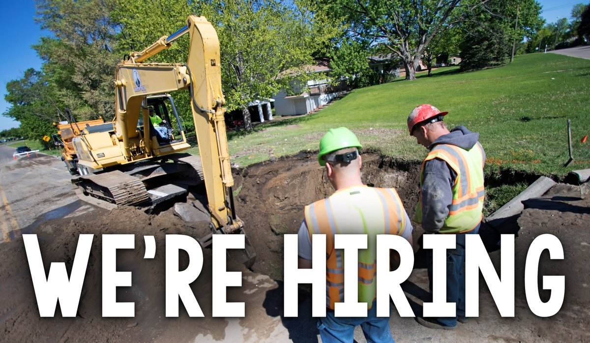 We're hiring a full-time Utility Supervisor to oversee Plymouth's water system operations, supervise utility staff, coordinate repairs, respond to customer service requests and more.  Applications are due Oct. 12. Apply online:  #jobs