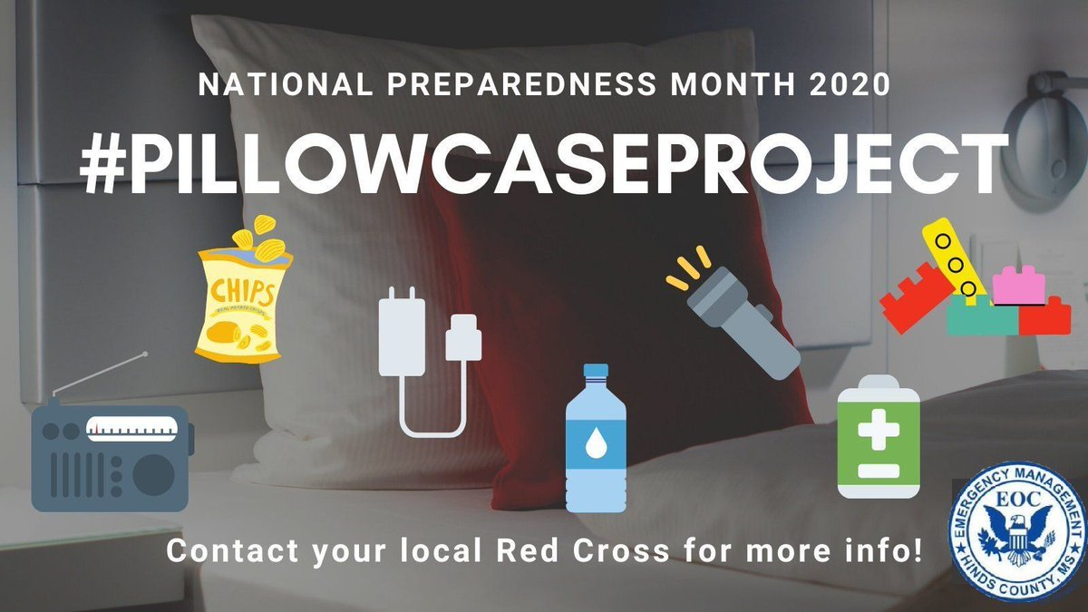 In 2015, a father and child took shelter during a tornado in OK. The child brought his pillowcase kit which had a flashlight and other supplies. The @RedCross #PillowcaseProject teaches prep to kids!   Learn More:  #NPM2020 #BeReady #DisastersDontWait