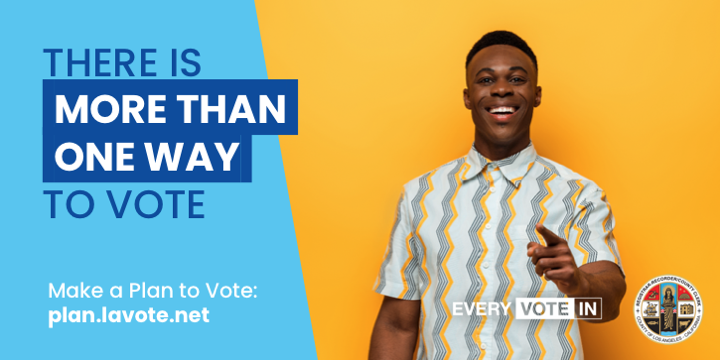 Whether you want to vote in-person or by mail, there's a safe voting option that fits your needs. This easy-to-use tool will help you make a plan to vote safely, so you can make your plan to vote today!