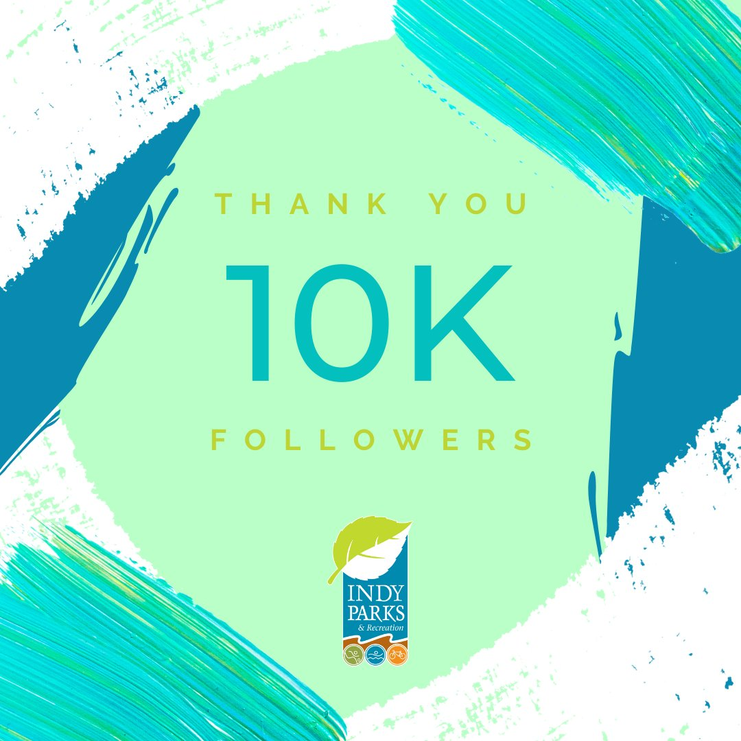 We reached 10,000 followers on Instagram today! Indy Parks is proud to create fun, safe, and engaging parks for all that enhance the quality of life for Indianapolis residents, and we thank you for joining us on our mission! You can follow us there at