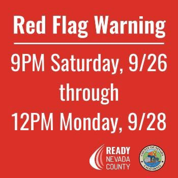 Red Flag Warning Saturday evening through Monday afternoon: .
