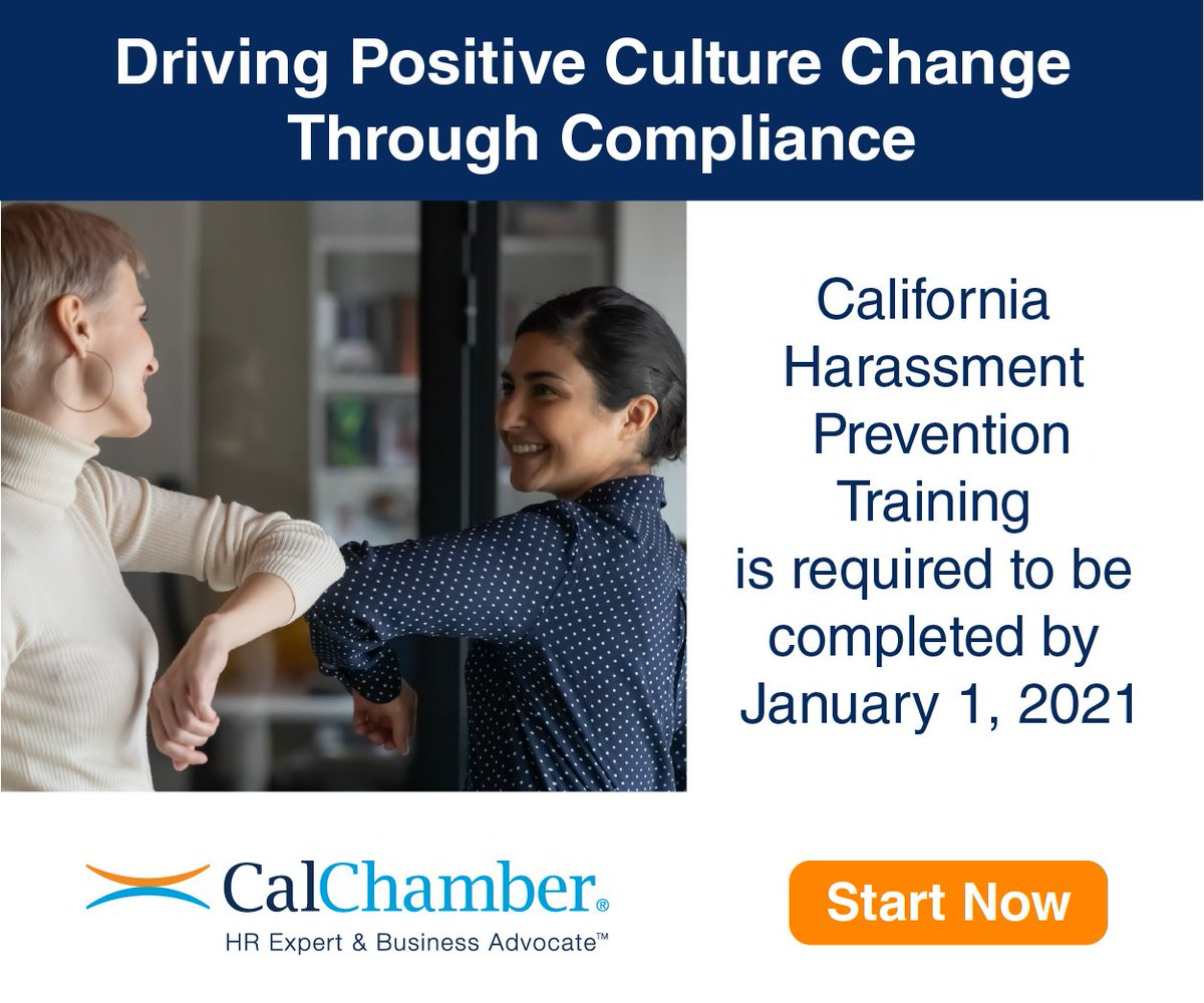 Chamber News | Santa Maria Valley Chamber of Commerce offering 20% #Discount on Required #California Harassment Prevention #Training