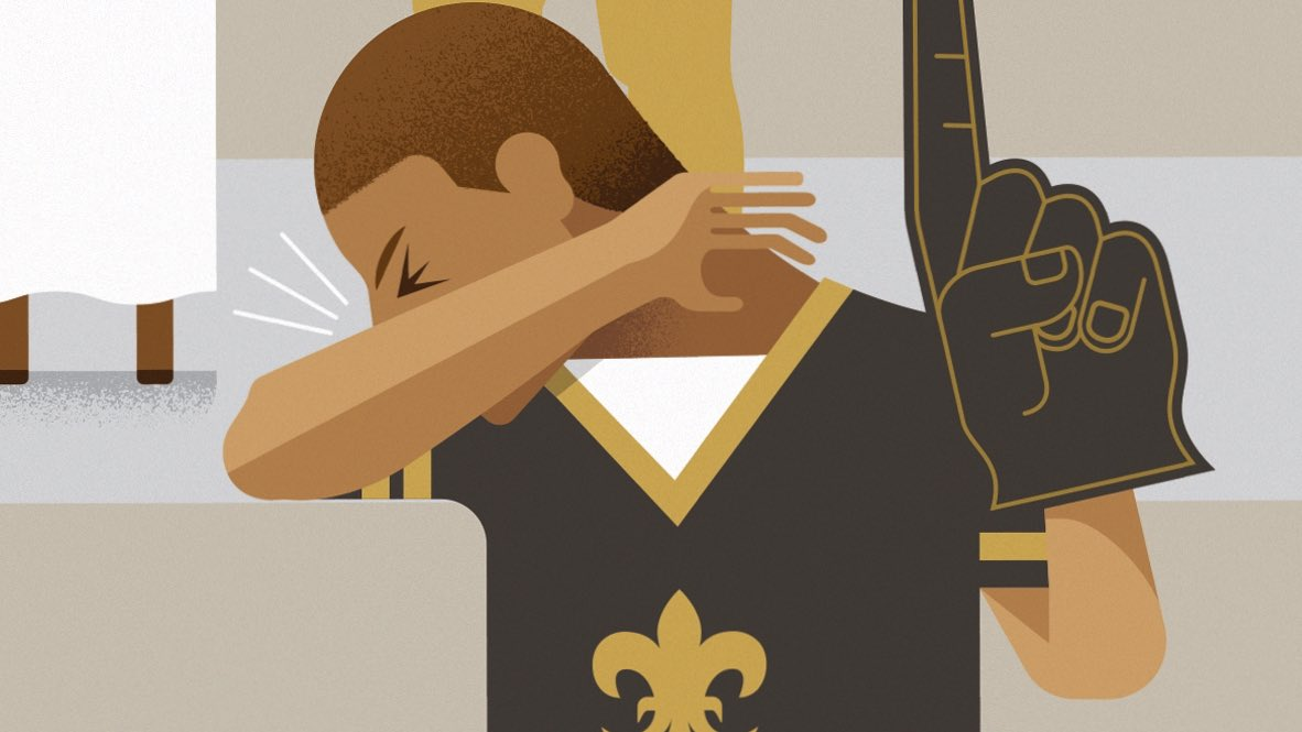 Please enjoy the games safely this weekend & remember these #nola tips:  ✖️Indoor gatherings limited to 25 people with masks & distancing required ✖️No tailgating allowed ✖️Stay home if you don't feel well ✔️Let's cheer on our @Saints & @LSUfootball together, while we're apart.