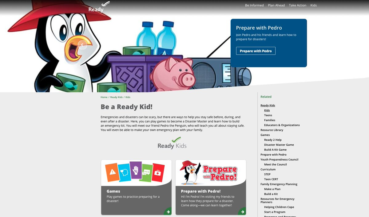 WEEK 4️⃣ of National Preparedness Month focuses on teaching youth about preparedness. Do your kids know what to do during an emergency? At @Readygov's website you can play games to become a Disaster Master! ➡️  #BeReady #NPM2020 #NationalPreparednessMonth