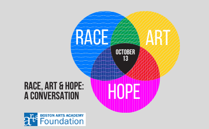 """The @bostonartsacad Foundation is hosting a frank panel discussion that will address racism & social inequality & the role of art as a catalyst for change & hope.  """"Race, Art & Hope: A Conversation"""" will be via Zoom on Oct 13, 6-7:30PM.  Register for free:"""