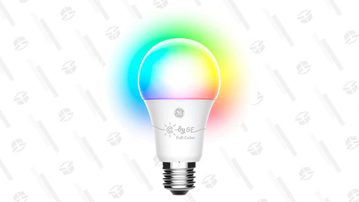 These multicolor LED GE bulbs can be connected to Bluetooth, and only $40
