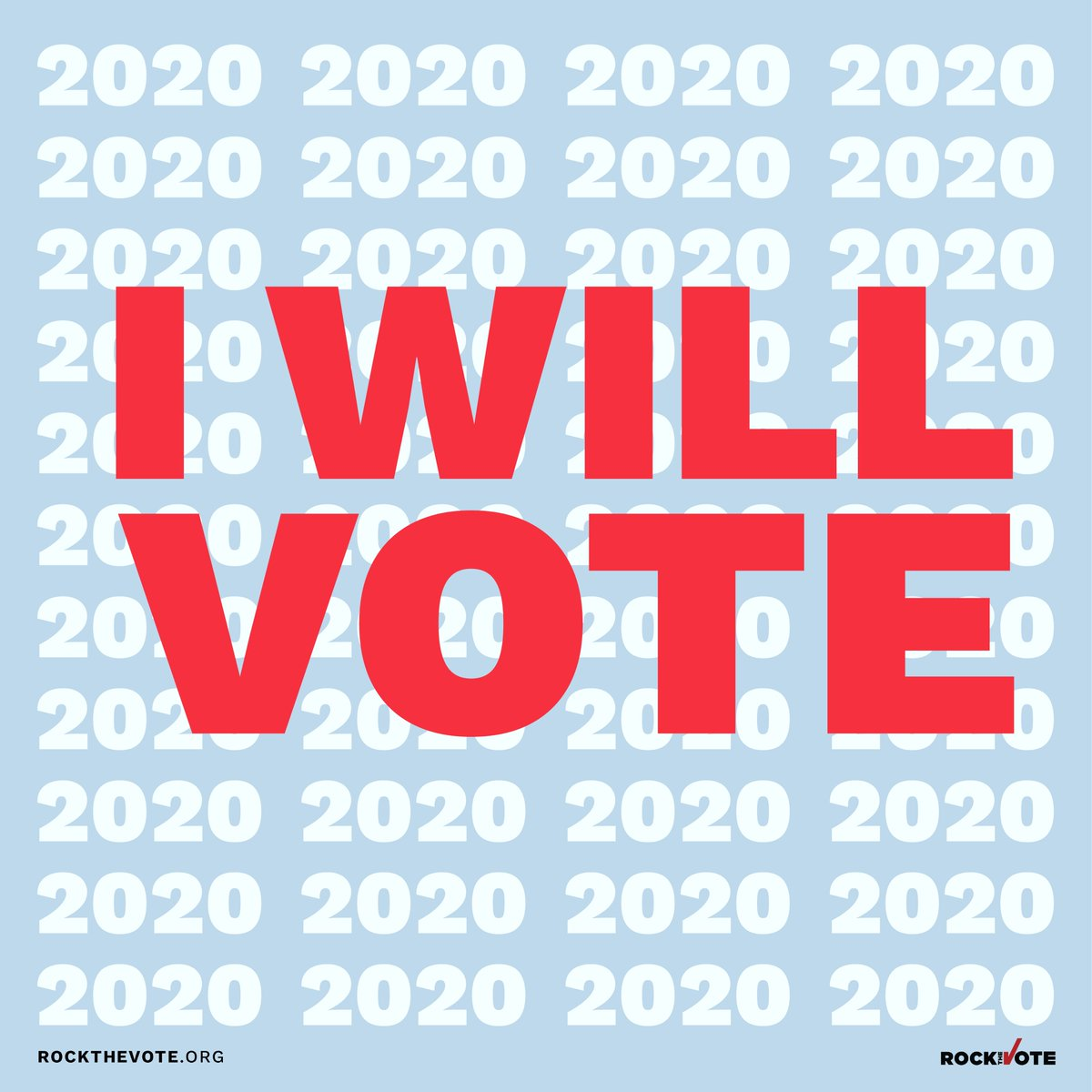 Today I'm encouraging you to check your voter status @RockTheVote to make sure you're in the clear for the 2020 Election! 👉🏼   #vote #vote2020 #RegisterToVote