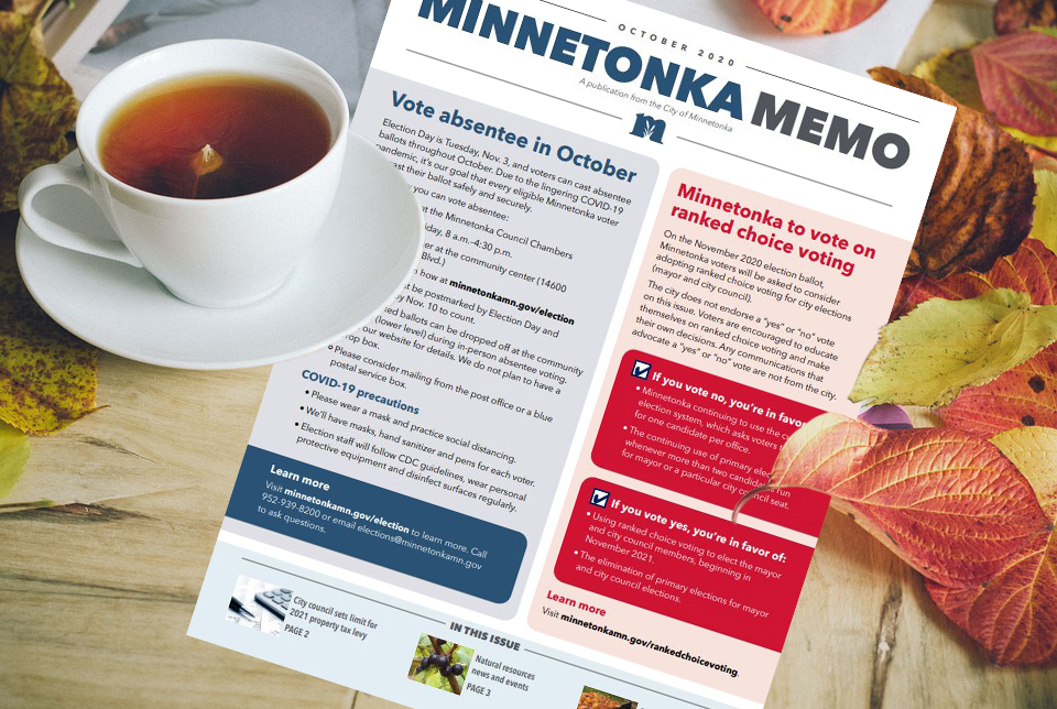 The October edition of the #Minnetonka Memo is a wonderful addition to your fall reading list!   It arrives in mailboxes this week, and is also available online here: . Enjoy! 📖🍂😀